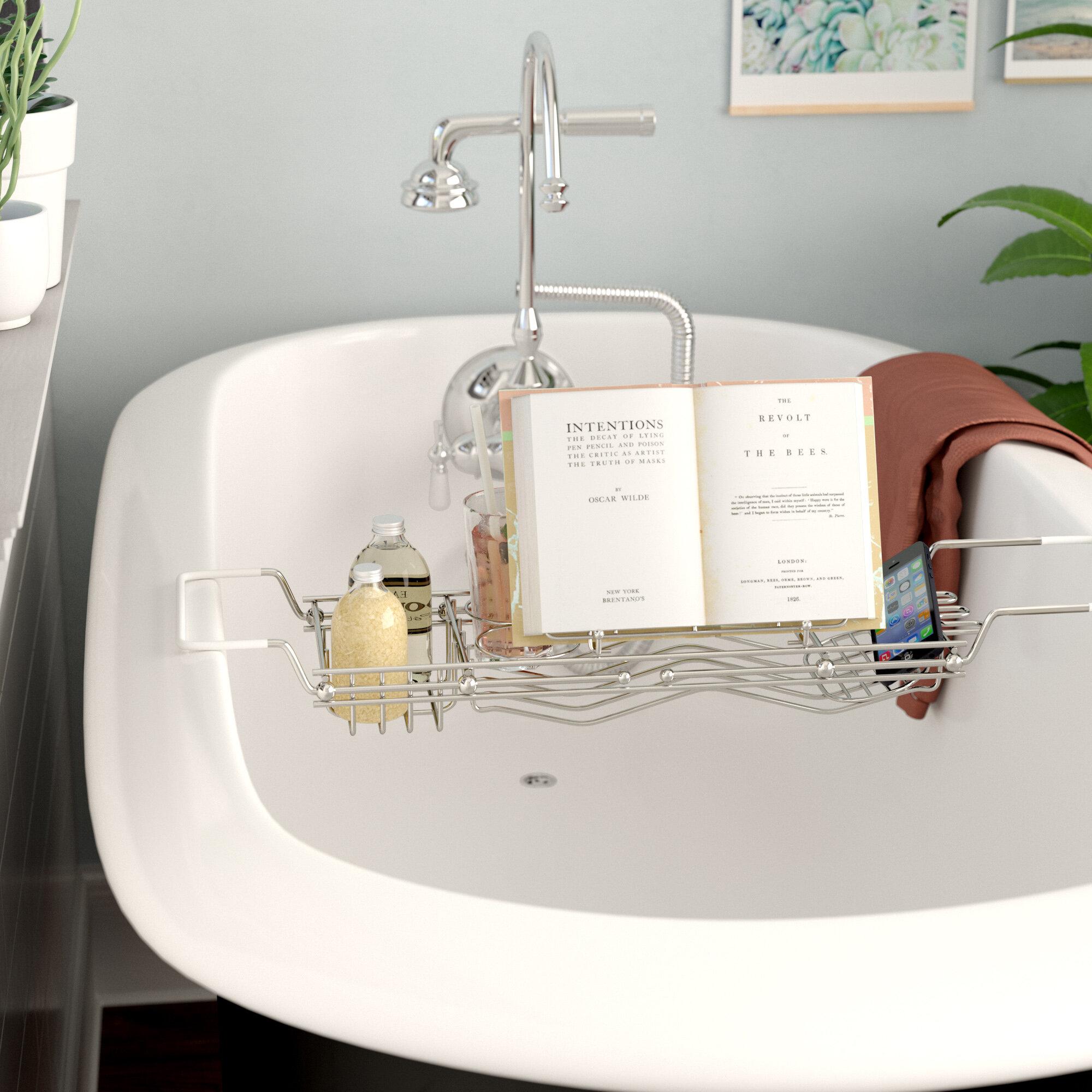 Rebrilliant Stainless Steel Bath Caddy & Reviews | Wayfair