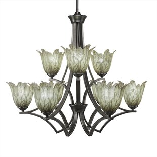 Cambridge 9-Light Shaded Chandelier by World Menagerie