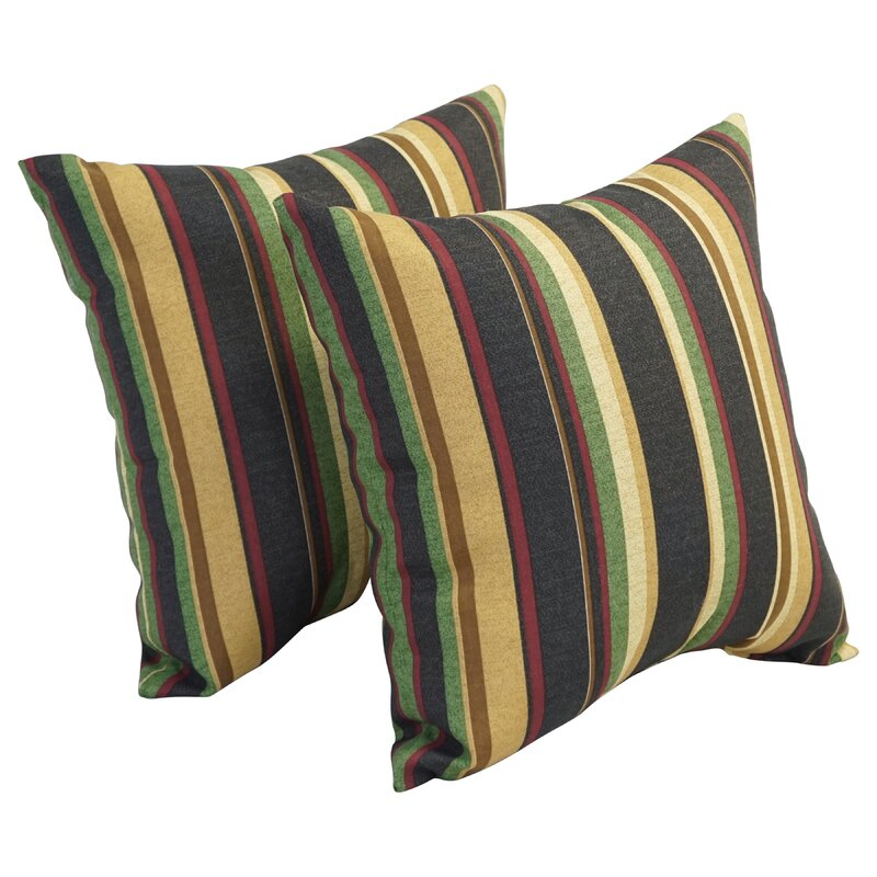 Bayou Breeze Kellie Indoor Outdoor Striped Throw Pillow Wayfair