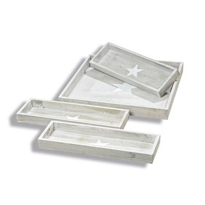 Cape Cod Star 4 Piece Seving Tray Set
