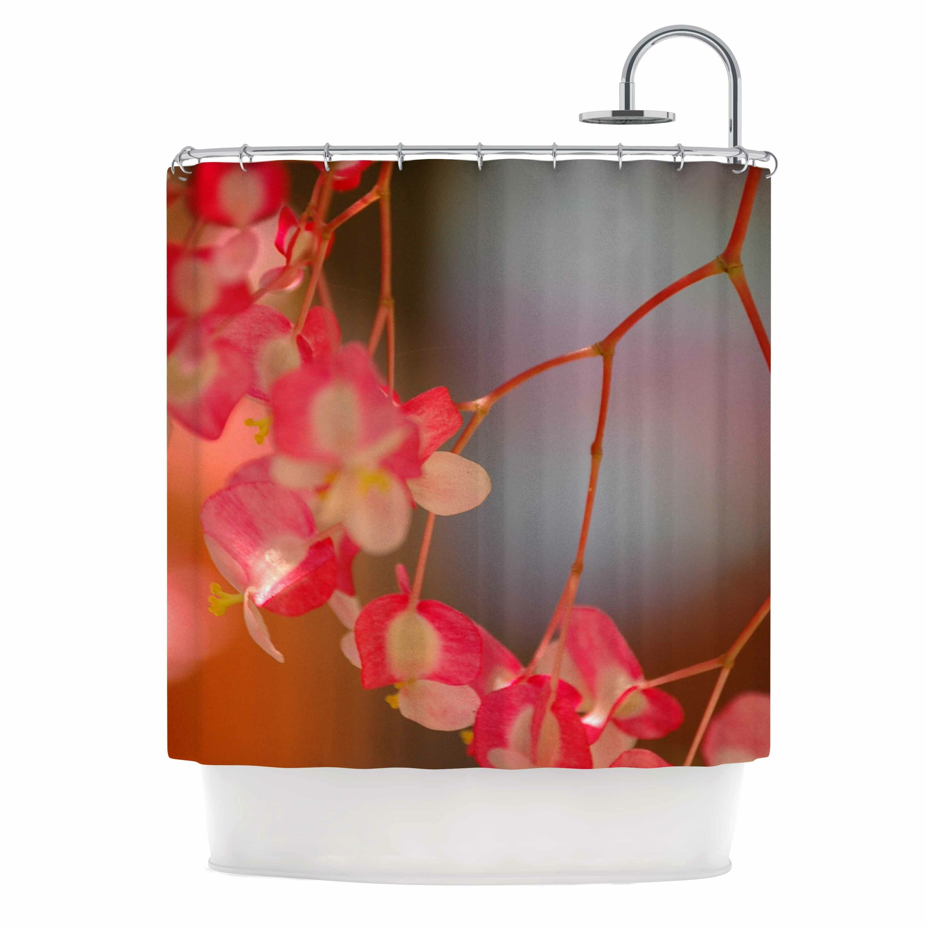 East Urban Home Hanging Flowers Shower Curtain