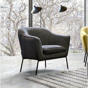 Desimone Armchair with Metal Leg by Diamond Sofa
