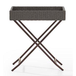 Mistana Brandy Tray Folding Wicker Bistro Table