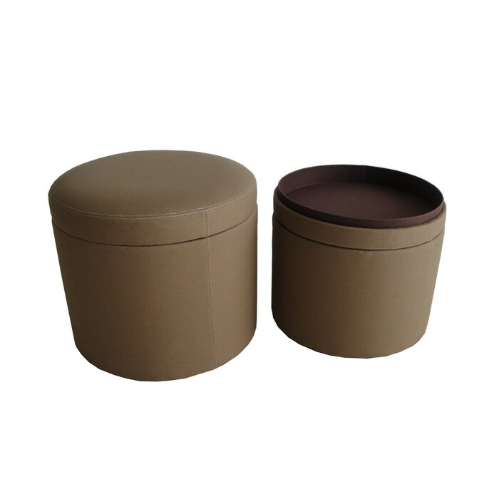 Marvelous Friedman Canvas Round Storage Ottoman Gamerscity Chair Design For Home Gamerscityorg