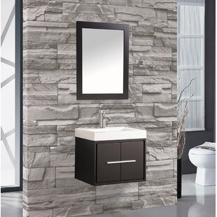 Peirce 30 Single Floating Bathroom Vanity Set with Mirror by Orren Ellis