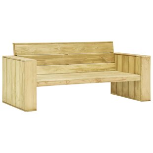 Azra Wooden Bench By Sol 72 Outdoor
