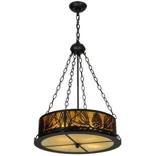 Mountain Pine 4-Light Pendant by Meyda Tiffany