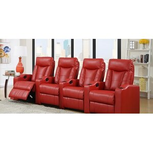 home theater leather recliner row of 4