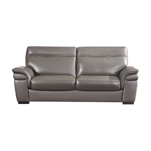 Ullery Leather Sofa By Latitude Run