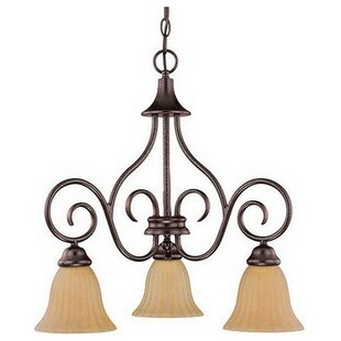 Fleur De Lis Living Bevilacqua 3-Light Shaded Chandelier