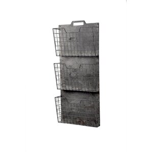 Metal Wall File Holder wire wall mounted baskets | wayfair