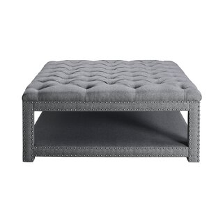 Heidy Tufted Cocktail Storage Ottoman by Darby Home Co