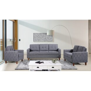 Harrad Tufted Mid-Century 3 Piece Living Room Set By Ivy Bronx