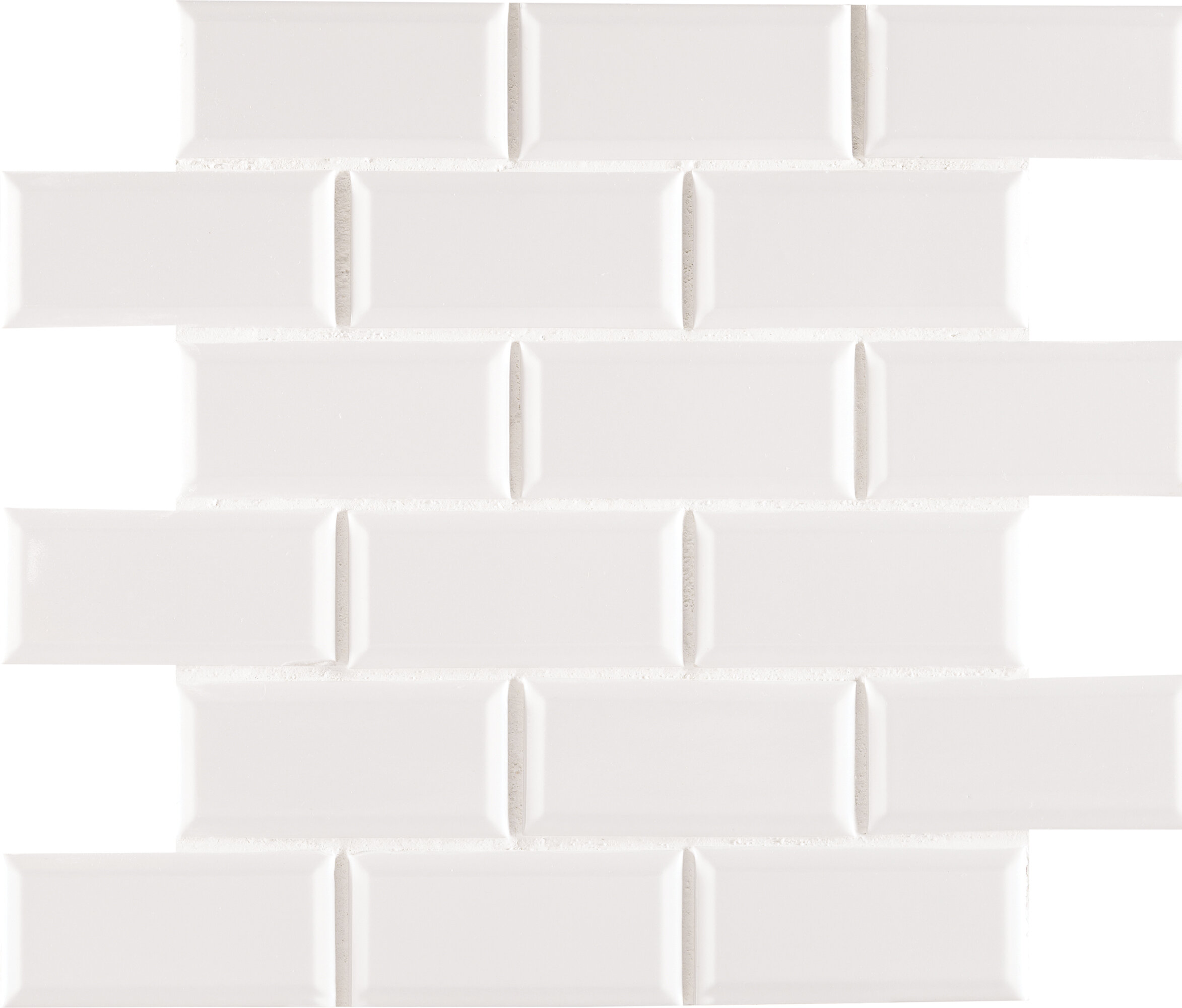White crackle subway tile wayfair staggered beveled 2 x 4 porcelain subway tile in white dailygadgetfo Gallery