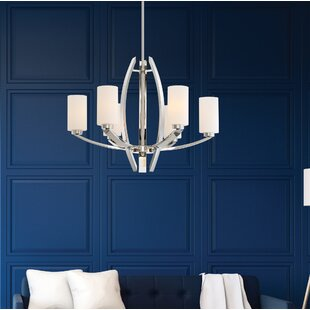 Metropolitan by Minka Glimrende 6-Light Shaded Chandelier