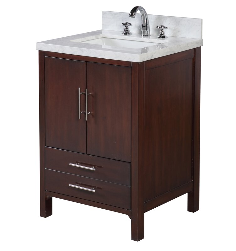 "kbc california 24"" single bathroom vanity set & reviews 