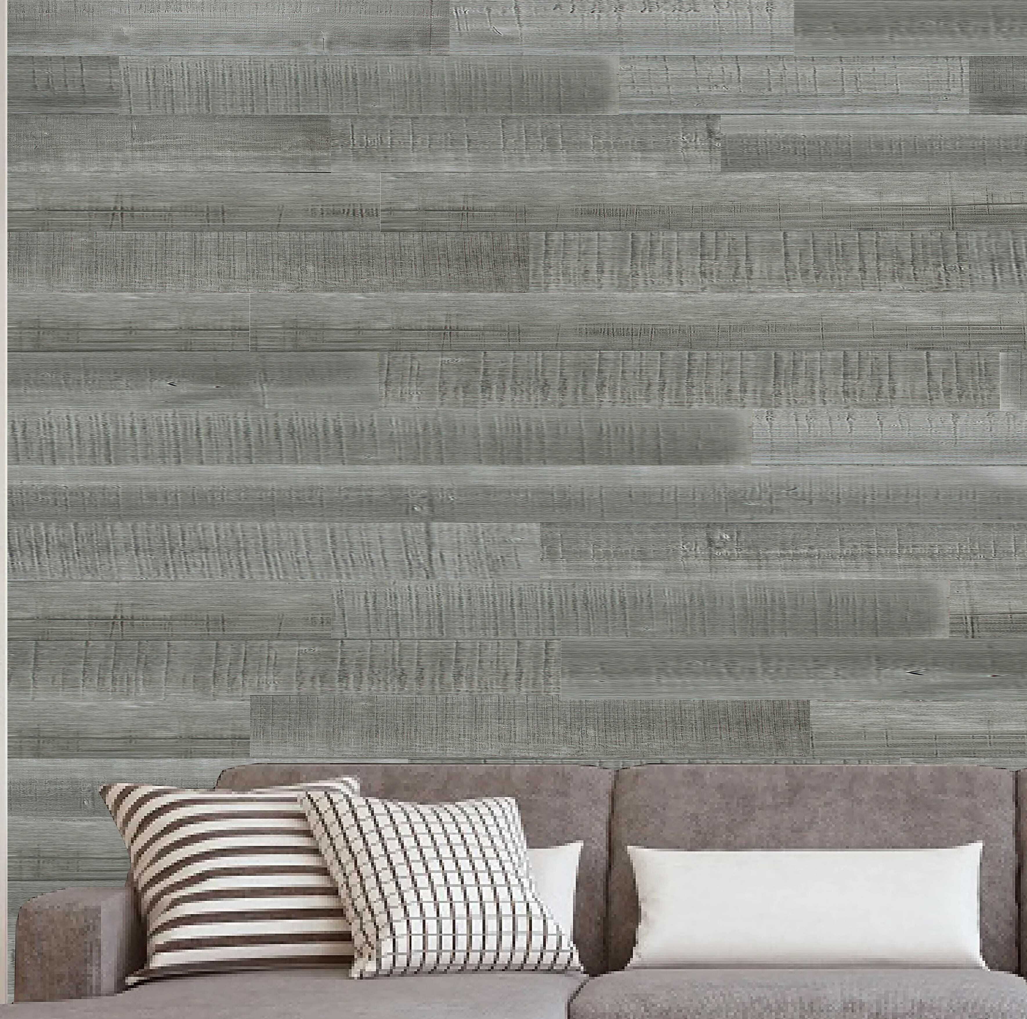 Porpora 6 X 47 Reclaimed Peel And Stick Solid Wood Wall Paneling In Gray Wayfair