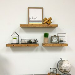 """Rack finished in Distressed White Wash 9/"""" Deep 3 Tier Wall Shelf// Book Shelf"""