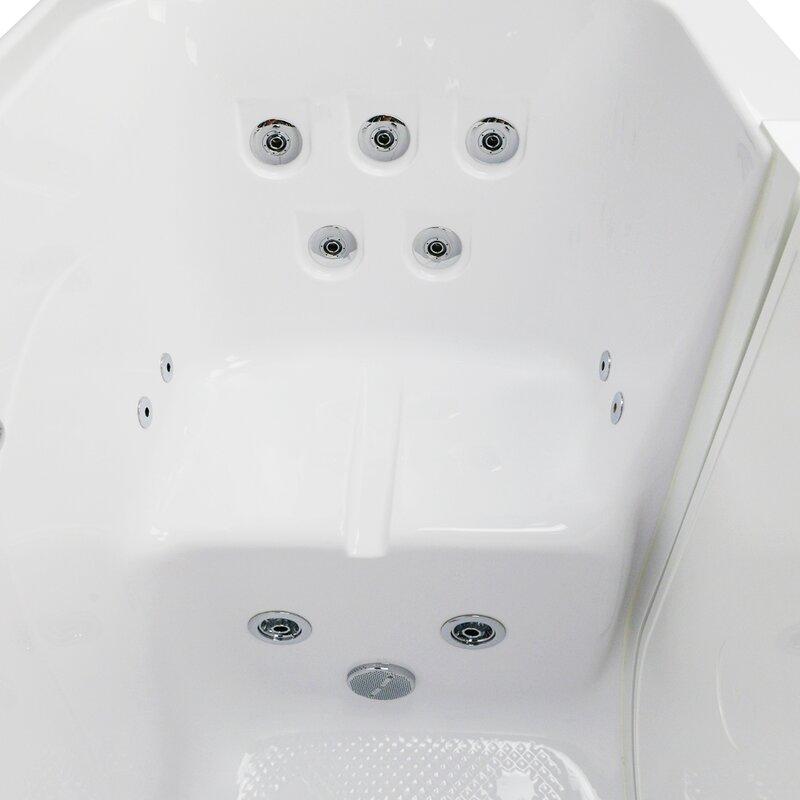 Ella Walk In Bath Monaco Hydro Massage Microbubble and Heated Seat ...