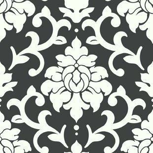 Milford 16 5 L X 20 5 W Damask Peel And Stick Wallpaper Roll