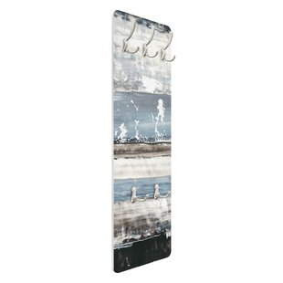 Icy Horizon I Wall Mounted Coat Rack By Symple Stuff