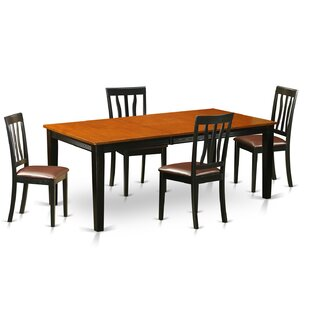 Loraine 5 Piece Dining Set Red Barrel Studio