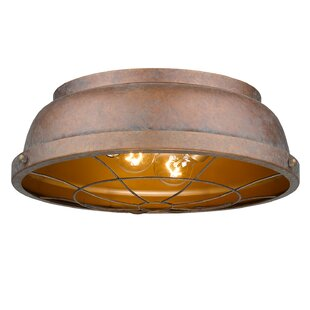 Beachcrest Home Elinna 2-Light Flush Mount