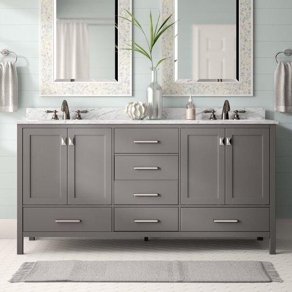 "Beachcrest Home Newtown 72"" Double Bathroom Vanity Set ..."