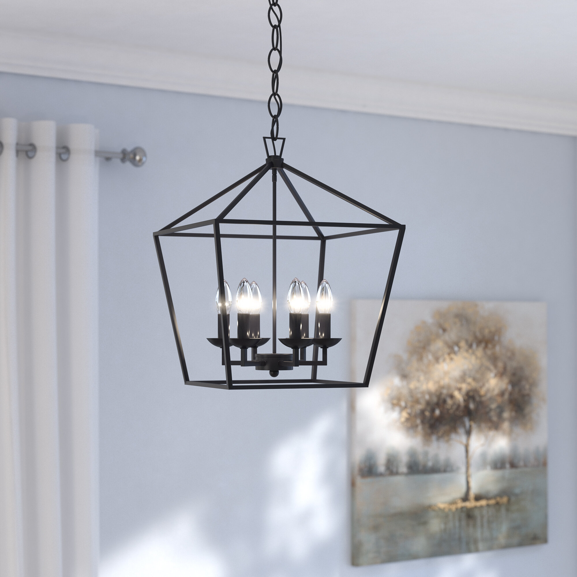 Wayfair laurel foundry modern farmhouse carmen 6 light foyer pendant