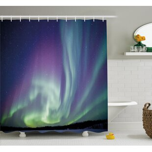 Top Starry Sky Shower Curtain ByEast Urban Home