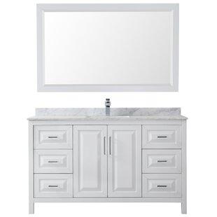 Daria 60 Single Bathroom Vanity Set with Mirror By Wyndham Collection
