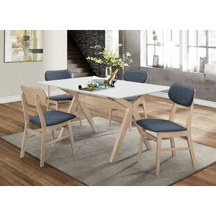 Barge 5 Pieces Dining Set Wrought Studio