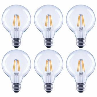 Symple Stuff 60 Watt Equivalent G25 Led Dimmable Led Clear Glass Globe Light Bulb 2700k E26 Medium Standard Base Set Of 24 Reviews Wayfair