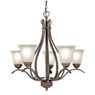 Beaconsfield 5-Light Shaded Chandelier by Woodbridge Lighting
