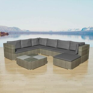 Griffith Garden 7 Seater Rattan Corner Sofa Set By Sol 72 Outdoor