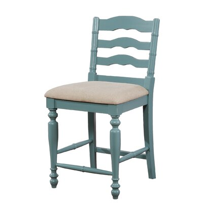Incredible August Grove Sonya Bar Stool Color Blue With Rub Through Bralicious Painted Fabric Chair Ideas Braliciousco