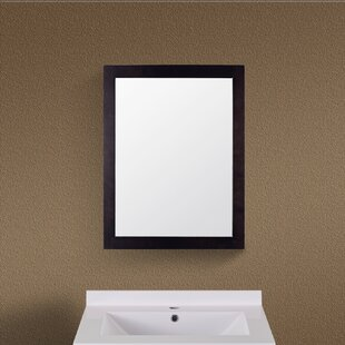 Inexpensive Rectangle Wood Frame Vanity Wall Mirror By Red Barrel Studio