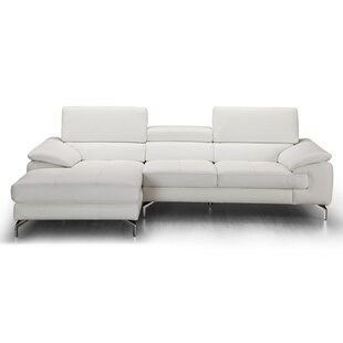 Modern & Contemporary Italian Leather Sectional | AllModern