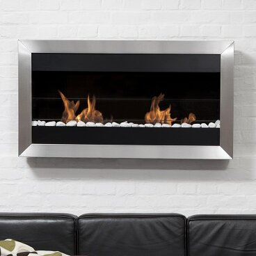 Bio blaze square large ii stainless steel ventless wall mounted bio square large ii stainless steel ventless wall mounted bio ethanol fireplace teraionfo