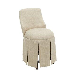 Sinderen Skirted Vanity Swivel Parsons Chair