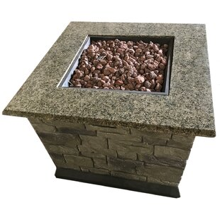 Stone Propane Fire Pit Table by Deeco 2019 Sale