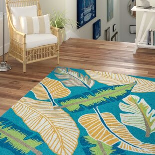 Mako Hand-Tufted Teal Indoor/Outdoor Area Rug