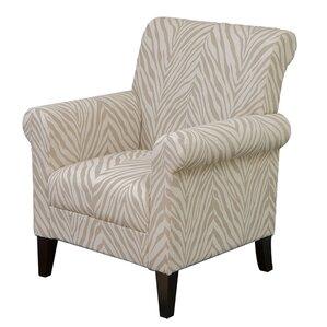Tatum Zebra Fabric Armchair