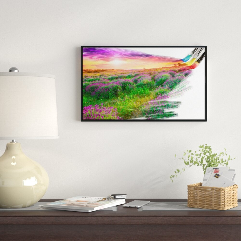East Urban Home Brushes Painting The Nature Framed Graphic Art Print On Wrapped Canvas Wayfair Ca
