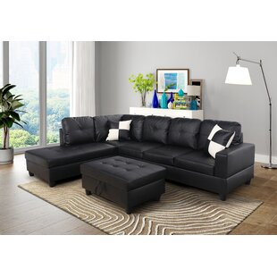 Ebern Designs Southworth Sectional with Ottoman (Set of 3)