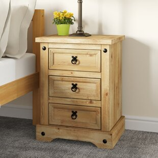 Doe 3 Drawer Bedside Table By Union Rustic