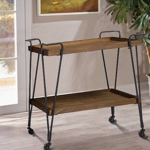 Zosia Ash Wood Mobile Serving Bar Cart by Gracie Oaks
