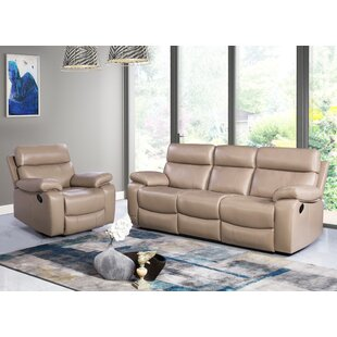 Mellor 2 Piece Leather Living Room Set