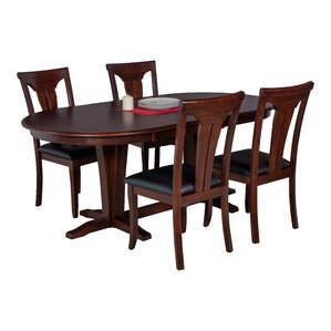 Doretha 5 Piece Dining Set with Curved Back Chair by Darby Home Co