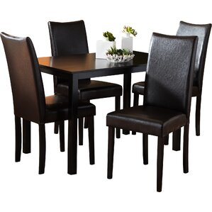 Baxton Studio Berreman 5 Piece Modern Dining Set by Wholesale Interiors